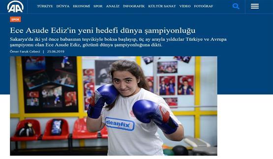Avrupa Boks Şampiyonu Ece Asude Ediz