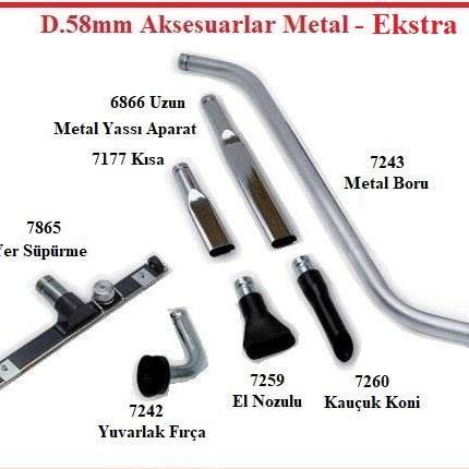 B03 - D.58mm Metal Aksesuarlar Ekstra